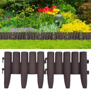Lawn Edgings 36 pcs Brown 10 m PP