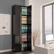 Office Cabinet High Gloss Black 60x32x190 cm Chipboard