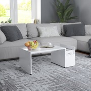 Coffee Table White 90x45x35 cm Chipboard