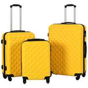 Hardcase Trolley Set 3 pcs Yellow ABS