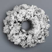 Jingle Jollys 60cm Christmas Snow Wreath