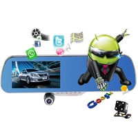 "5.0"" IPS Touch Android 4.4 ROM 8GB FHD1080P DashCam Park Car Rearview Mirror"
