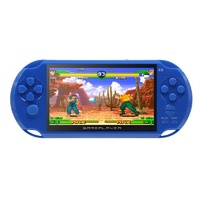 Blue 5 Inch Screen Handheld Video Console Built in 300 Games GBA/NES Console