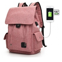 Casual Tech2Go - Durable Fashionable Laptop Backpack with USB Charging Port Pink