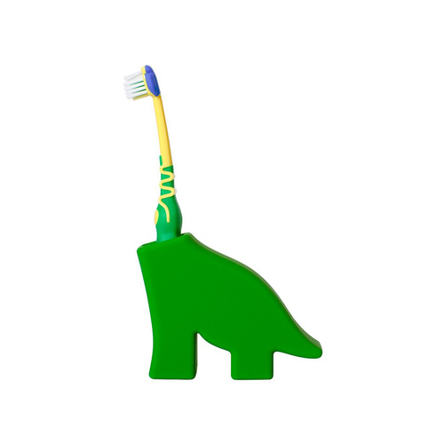 Creative Kids Animal Toothbrush Holder Stand - Cute Dinosaur Shape Green
