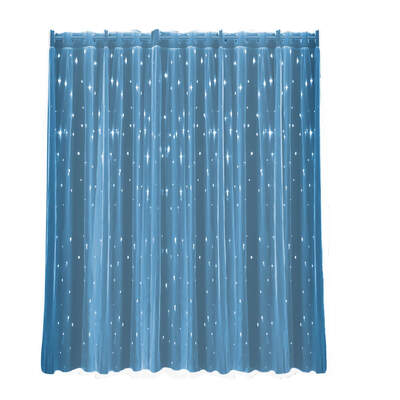 2x Star Blockout Curtain Panels Blackout 2 Layer Eyelet Room Darken Pure Fabric
