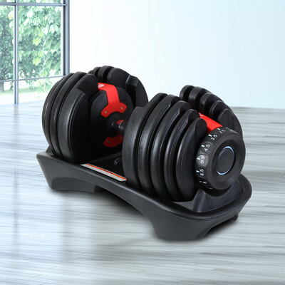Everfit 24kg Adjustable Dumbbell Set Weight Dumbbells Plates Gym Exercise Fitness