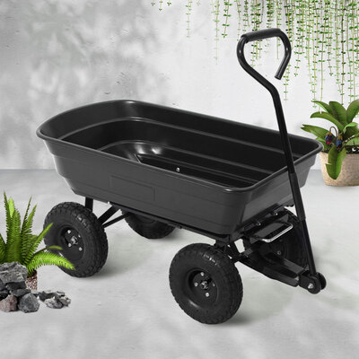 Gardeon 75L Garden Dump Cart - Black
