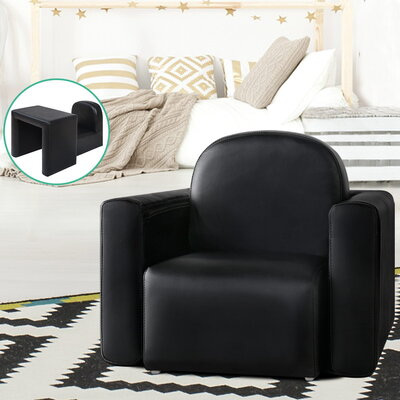 Kids Covertible Armchair - Black