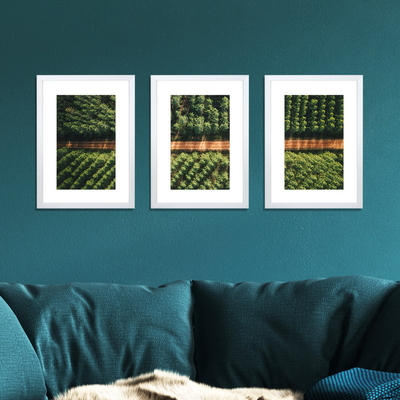 3 PCS Photo Frame Wall Set A3 Picture Home Decor Art Gift Present White