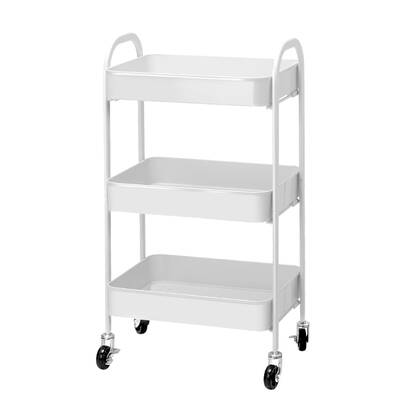 Artiss 3 Tier Kitchen Stroage Cart Portable Rolling Rack Shelf Office Utility WH
