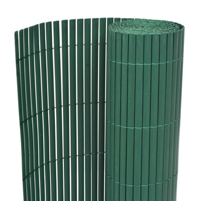 Double-Sided Garden Fence PVC 195x500 cm Green